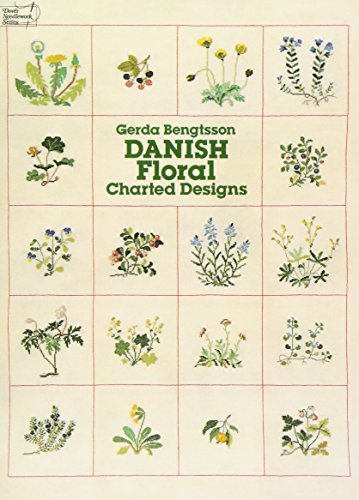 Danish Floral Charted Designs (Dover Embroidery, (Floral Embroidery Design)