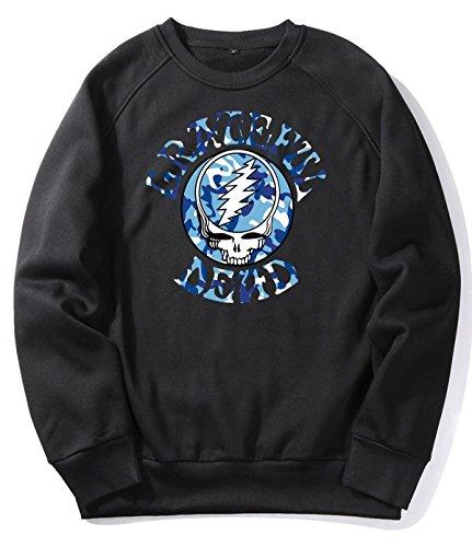 Rock The Grateful Camo 8 Black Sweater Hoodie For Men S