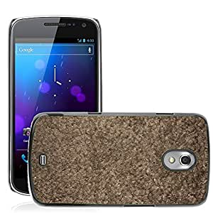 Etui Housse Coque de Protection Cover Rigide pour // M00150200 Alfombra textura áspera Material de // Samsung Galaxy Nexus GT-i9250 i9250
