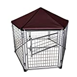 Outdoor Dog Kennel with Included Roof Weather Resistant Cover (5.5') - Waterproof Winter Welded Wire Pet House Shelter - Ideal for Any Dog Breed - Easy Assembly by Neocraft My Pet Companion