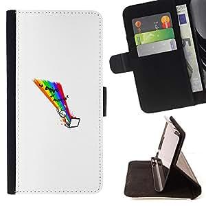 BullDog Case - FOR/Samsung Galaxy Note 4 IV / - / Doing Internet - Funny Wtf Lol /- Monedero de cuero de la PU Llevar cubierta de la caja con el ID Credit Card Slots Flip funda de cuer