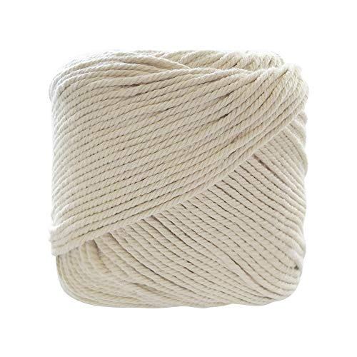 3mm x 180m Naturl Cotton Macrame Cord for Plant Hangers DIY Crafts Handmade Bohemia Wall Hanging Decorations -