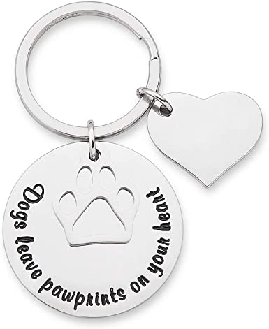 Personalised Dogs Leave Paw Prints On Our Hearts Pet Memorial Remembrance Gift