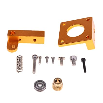 Aluminio extrusor MK8 Bloque Kit marco DIY para impresora 3D ...