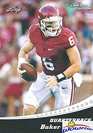 aa6297253 Baker Mayfield 2018 Leaf Draft  1 Limited Edition FIRST EVER PRINTED ROOKIE  Card in MINT Condition ...