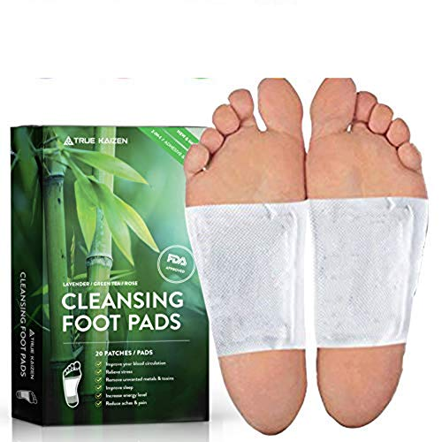 [UPGRADED-2019] True Kaizen Premium Lavender Green Tea Rose & Ginger Foot Patch Pads, 2-in-1 Strong Adhesive, 100% Natural Ingredients - Improve Sleep & Relief - eBook Included - 20 -