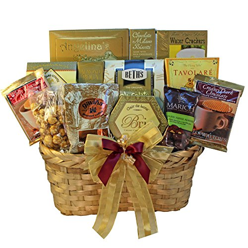 Golden Splendor Gourmet Food and Snacks Gift Basket