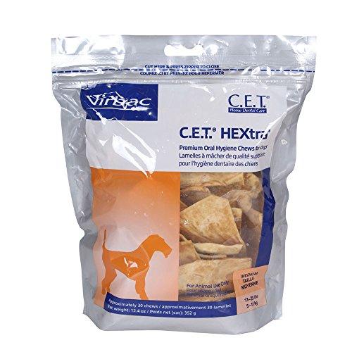 Hextra Premium Dental Chews - C.E.T. HEXtra Premium Chews for Dogs, M, 30 ct