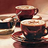 Tazze con Cappuccino by Landi, Federico - Fine Art Print on CANVAS : 14.5 x 14.5 Inches