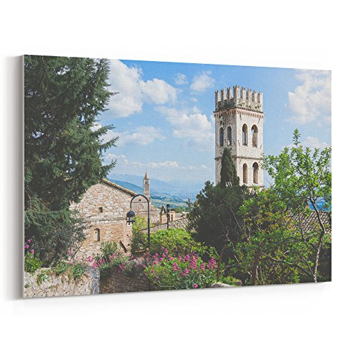 val City - 16x24 Canvas Print Wall Art - Canvas Stretched Gallery Wrap Modern Picture Photography Artwork - Ready to Hang 16x24 Inch ()