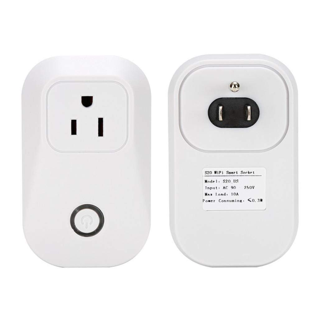 Sonoff s20 Wifi Switch Wireless Remote Control Smart Plug Electrical for  Household Appliances,Works with Google Alexa DIY Your Home Via Iphone  Android