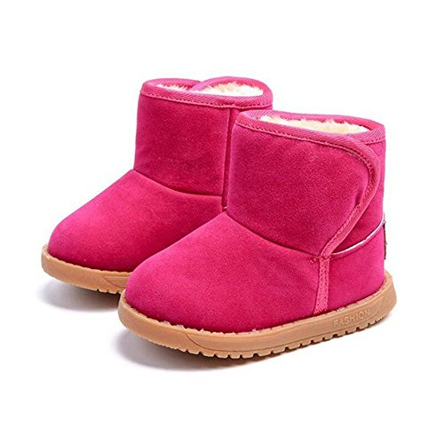 Winter Warm Fur Boots for Toddler Soft Winter Pink Snow Boots for Girl Plush Shoes