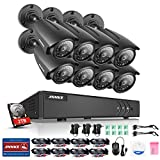 ANNKE 8CH 1080N 5 IN 1 HD TVI DVR Home Security System w/ 8x 960P 1.3MP Bullet Weatherproof Indoor/Outdoor CCTV Cameras NO HDD with Infrared Superior Night Vision, One 2TB HDD