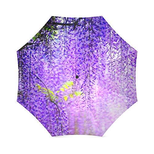 Travel Umbrella Flowers Windproof, Anti-UV waterproof Lightweight Portable Outdoor use