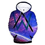 VOSTE Alan Walker Logo Hoodies 3D Printed Hooded Pullover Sweatshirt (X-Small, Color 10)