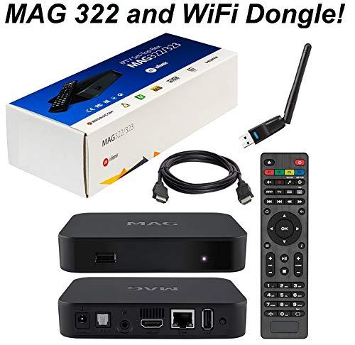MAG 322 Original Infomir Linux IPTV Set Top Box Multimedia Player Internet...