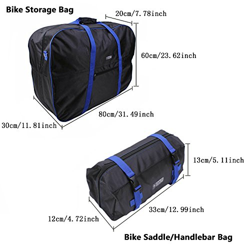 Bike Travel Cases Transport Carrying Bag with Saddle Bag for 14 20 inch Foldable Bicycle