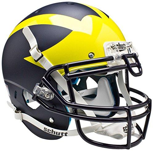 Schutt Sports Authentic Game-Day Michigan Wolverines Football Helmet, Blue Alternate 1 ()