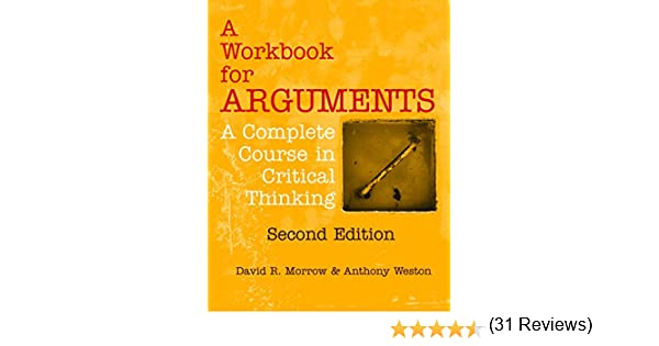 from critical thinking to argument 2nd edition