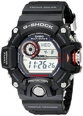 "Casio Men's GW-9400-1CR ""Master of G"" Stainless Steel Solar Watch"