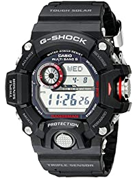 amazon com 50mm over wrist watches watches clothing shoes casio men s gw 9400 1cr master of g digital quartz black solar watch