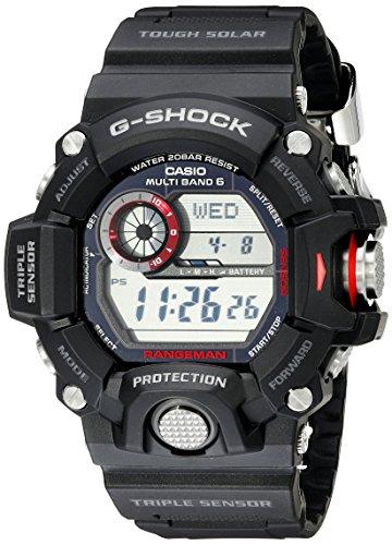Casio Men's GW-9400-1CR Master of G Stainless Steel Solar Watch|-|B00GFYYKLA