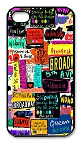 NYC Words Iphone 4 4s Case Cover Uy85, Apple Plastic Shell Hard Case Cover Protector Gift Idea