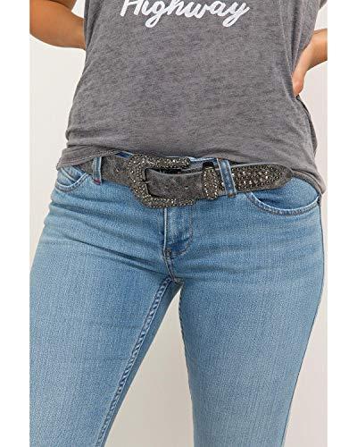 Shyanne Women's Eclipse Multi-Stud Pewter Belt Silver S/M