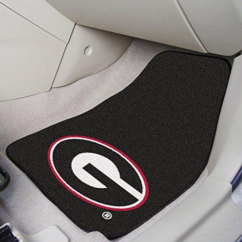(FANMATS NCAA University of Georgia Bulldogs Nylon Face Carpet Car Mat)