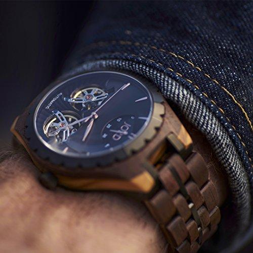 Jord relojes de madera para hombres - Meridian automático de la serie/madera reloj banda/Metal bisel/Self Winding movimiento - incluye caja de madera reloj: ...