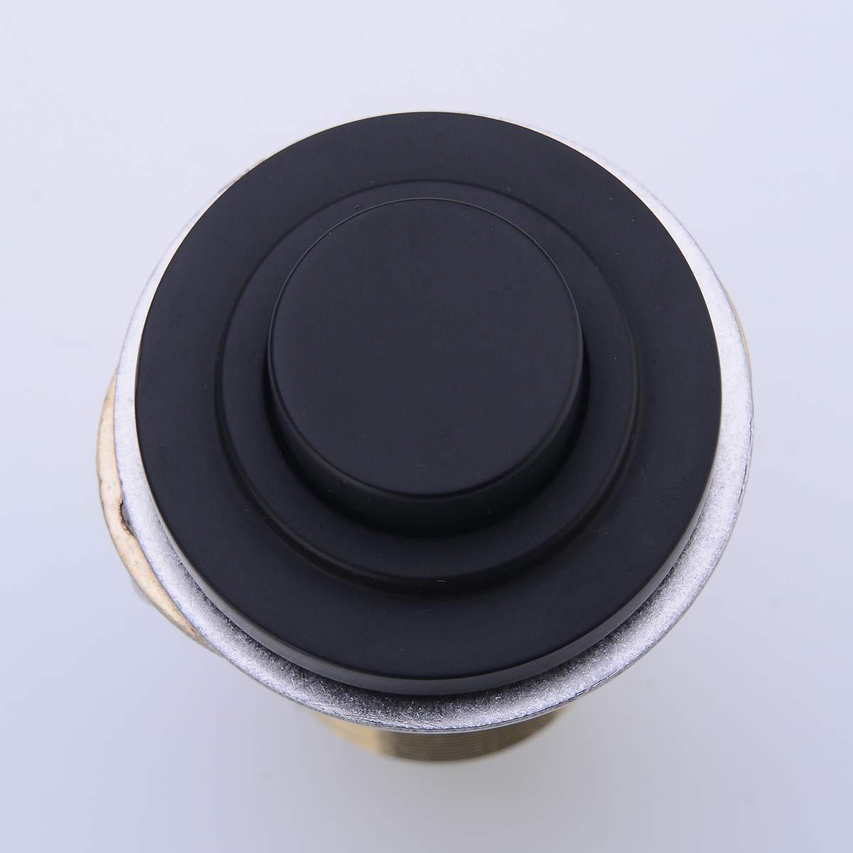 SINKINGDOM SinkTop Air Switch Kit (Full Brass) for Garbage Disposal, Cordless (Matte Black) by SINKINGDOM (Image #2)