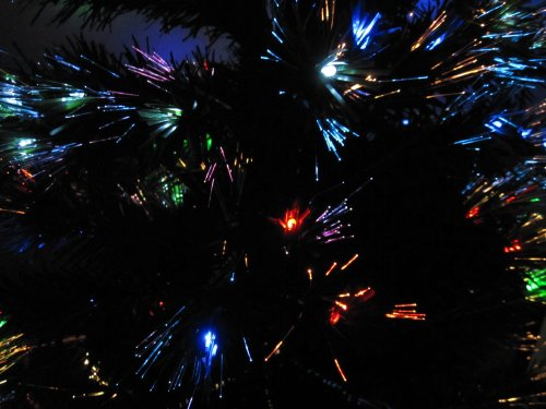 6.5 ft fiber optic christmas tree