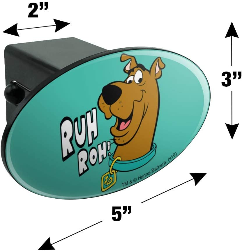Graphics and More Scooby-Doo Ruh Roh Oval Tow Trailer Hitch Cover Plug Insert