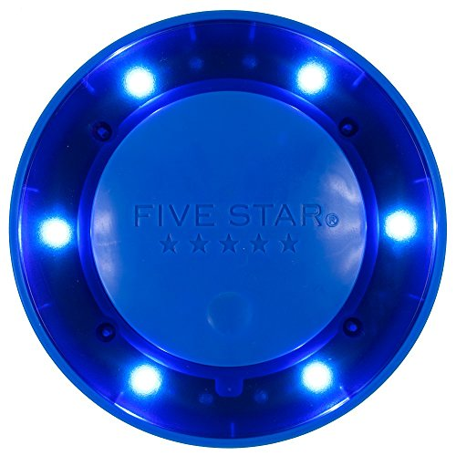 Five Star Push Button Locker Colored Light, LED, Locker Accessories, Blue, 4 in. x 1.1 in. x 4 (73565)