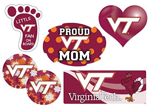 Virginia Tech Hokies Proud Mom 6 Piece Decal Set ()
