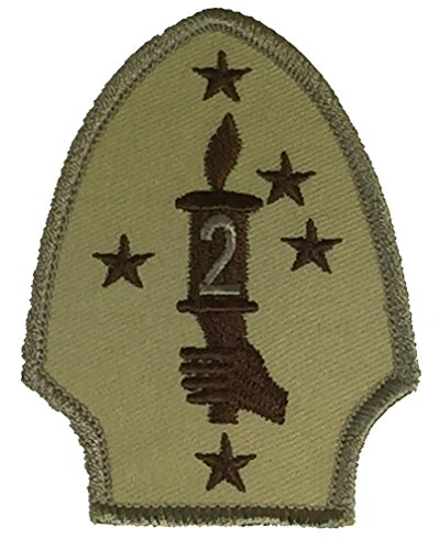 USMC 2D MARINE DIVISION UNIT Patch - Desert/Tan - Veteran Owned Business.