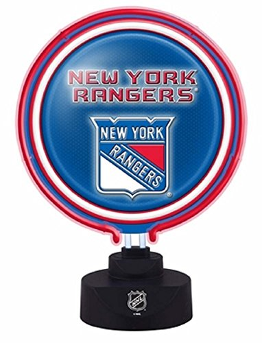 NHL New York Rangers Official Neon Helmet Lamp, Multicolor, One Size by The Memory Company