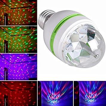 De Coloré Pratique Disco E27 Club Noël Vktech® Rgb Ambiance Auto Fête Portable Décoration Led 3w Rotatif Lampe 0wn8Nm