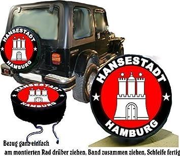 Funda para rueda de repuesto protectora Hamburgo para su Jeep: Amazon.es: Coche y moto