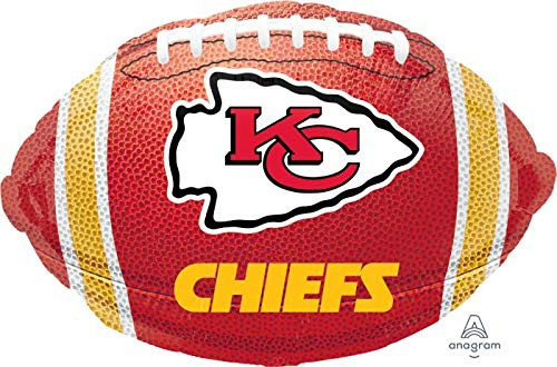 Kansas City Chiefs Football 18'' Balloon Super Bowl Birthday Party Decorations -