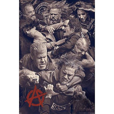Sons of Anarchy - Fighting Poster