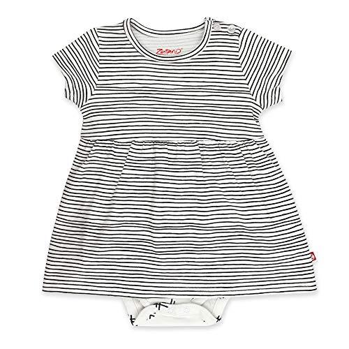 Zutano Baby Girl Organic Cotton Summer Dress, Pencil Stripe/Romper, 3M