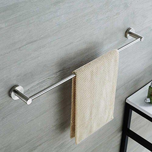 Mellewell 16-Inch Towel Bar Towel Holder Bathroom Organizer, Stainless Steel Brushed Nickel, 05A01-1 (Pewter Towel Rack)