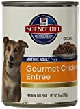 Hill's Science Diet Adult 7+ Chicken & Barley Entree Dog Food, 13-Ounce Can, 12-Pack by Hill's Science Diet Review