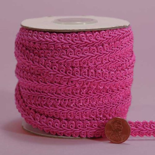 Hot Pink Gimp Braid Trim, 3/8