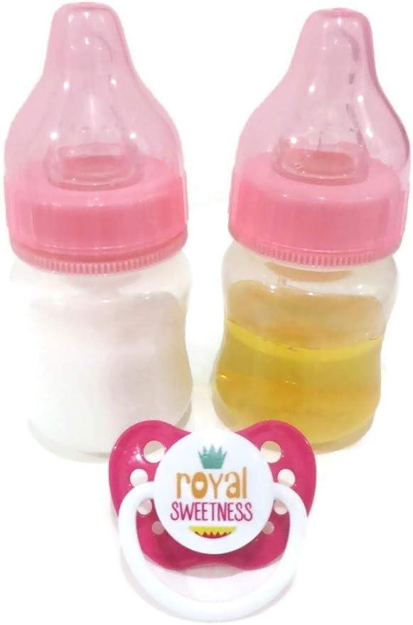 Preemie Size! 2oz Sealed Blue Reborn Baby Apple Juice Bottle w//NO HOLE NIPPLE