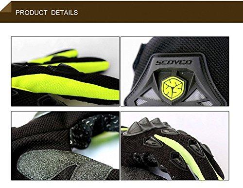 Wonzone Men's BMX MX ATV Powersports Racing Gloves Bicycle MTB Racing Off-road/Dirt bike Sports Gloves (Red, Medium) by Wonzone (Image #5)