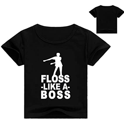 12aa01246 BZWZH Boys Girls Floss Like a boss T Shirt, Children's Gaming t Shirt, Men's