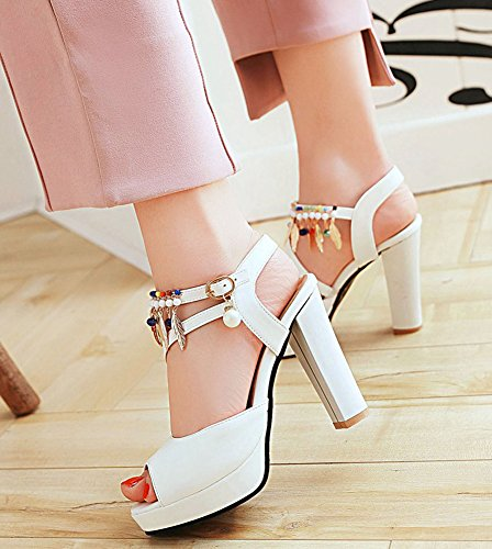 Franges Strass Original Blanc Multicolores Aisun Banquet Sandales Femme nEaqx4xX