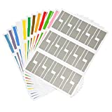 Color Label Printer - Gydandir 24 Sheets Self-Adhesive Cable Labels Waterproof Tear Resistant Cord Label Stickers Tags Cable Label Stickers and available for Laser Printer 720 Pieces Total, 12 Colors